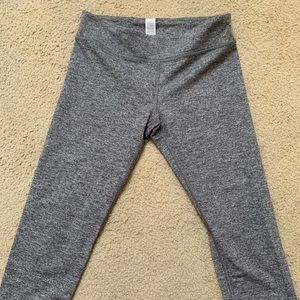 Grey cropped leggings